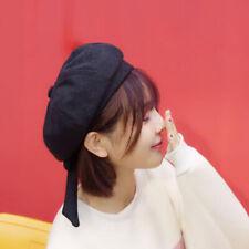Women's Beret Daisy Bow Kawaii Japan Painter Hat Vintage Hat Beret G