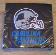 New NFL Carolina Panthers 50 pc Dinners Napkins Partyware Party Supplies