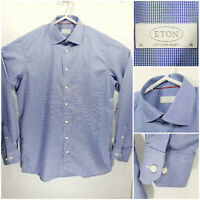 ETON Contemporary Mens 16 41 Long Sleeve Button Up Blue