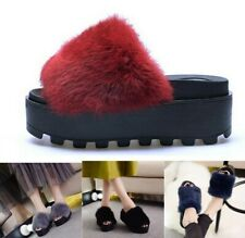 Women Flip Flop Winter Warm Fur Shoes Woman Slipper Fashion Platform Slides Flat