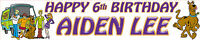 2 X SCOOBY DOO PERSONALISED BIRTHDAY BANNERS
