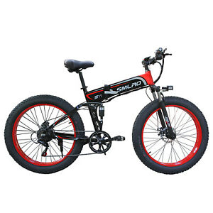Fat tire 26 inch folding assist mountain bike full shock absorption Electric 4.0