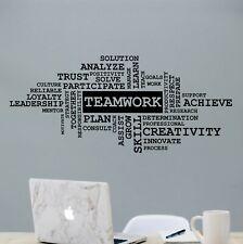Teamwork Office Wall Decal, Office Decor, Motivational Wall Sticker, Vinyl Decal