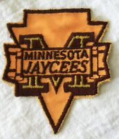 Minnesota Jaycees fabric patch embroidered vintage