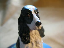 COUNTRY ARTISTS COCKER SPANIEL DOG (BLACK & WHITE) 1980's SCULPTED BY K.SHERWIN