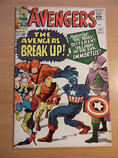 MARVEL: THE AVENGERS #10, JACK KIRBY'S COVER, 1ST APP. OF IMMORTUS, 1964, FN/VF!
