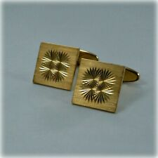 Diamond-cut Swivel Cufflinks Vintage 9ct Gold