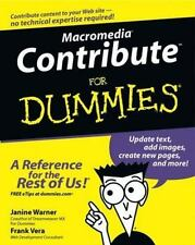 Macromedia Contribute for Dummies by Frank Vera and Janine Warner (2003, Paperba
