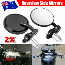 "Pair 7/8"" Motorcycle Handle Bar End Mirrors Aluminum Motobike Side Rearview 22mm"