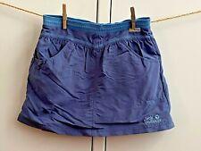 JACK WOLFSKIN Outdoor Rock Gr. 140 Skort UV-Schutz blau