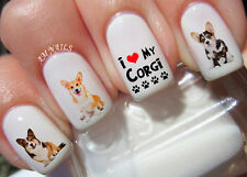Welsh Corgi Nail Art Stickers Transfers Decals Set of 38