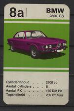 BMW 2800 CS Vintage Kwartet card/Quartet card/Spielkarte