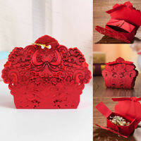 New 25Pcs Laser Cut Candy Box Party Favors Gift Bag Chocolate Box With Ribbon