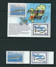WALLIS and FUTUNA 2004 FIRST flight over WALLIS SEAPLANE (Sc 586-8) VF MNH