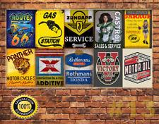 Job Lot 10 x METAL TIN SIGN WALL PLAQUE VINTAGE STYLE GARAGE WORKSHOP  #13