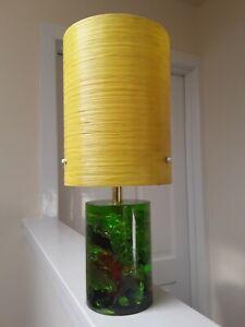 Vintage 60s/70s Shattaline Shatterline Lamp Fibreglass Shade Mid Century Retro