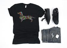 Premium Dachshund Dog Hearts Silhouette Owner Gift T Shirt Lover
