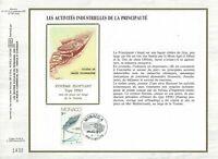 FEUILLET CEF 1er JOUR MONACO SUR SOIE LES ACTIVITÉS INDUSTRIELLES 1983