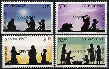 St. Vincent 1981 SG#681-4 Christmas MNH Optd Specimen Set #A92027