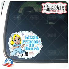 """Baby Alice """"BABY OR LITTLE PRINCESS ON BOARD"""" Awareness Sign"""