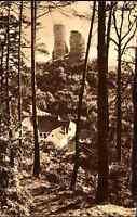 Burg Ruine Kirkel-Neuhäusel im Saarland ~1935 Bildpostkarte des Saar-Hilfswerks
