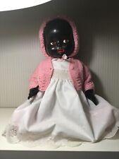 Pedigree Black Baby Bent Leg Hard Plastic Doll Made In England 43cm