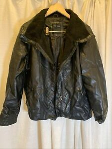 Women's Faux Leather Moto Jacket Black Zip Snaps Zipper Pockets Plus Size 2X