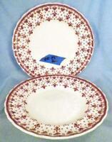 2 Copeland Spode Fleur-de-Lis Salad Plates Porcelain Brown England Sm Flakes DD