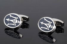 Maserati Cufflinks Mens jewelry Silver plated Designer clothes Dress ITALY