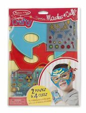 Melissa & Doug Simply Crafty Superhero Masks and Cuffs Kit With Stickers, Shapes