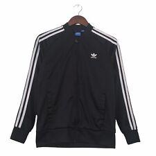 Adidas Originals Tracksuit Jacket Womens Size XS Black White Logo Track Top