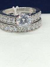 Diamond Ring Set Size 7 $350 DiamonLuxe Sterling Silver 3.29-ct. T.W. Simulated