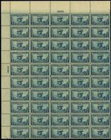 650, Mint VF-XF Sheet of 50 5¢ Aeronautics Stamps Brookman $500.00 - Stuart Katz