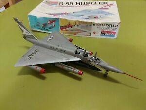 Monogram B-58 Scale Hustler Plastic Model Kit Built