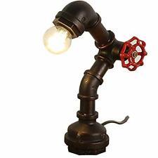 Retro Water Pipe Metal Led Desk Lamp