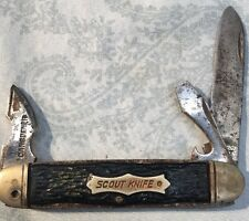 VINTAGE~KENT~3BLADE N.Y. CITY(SCOUT KNIFE)~FREE SHIPPING