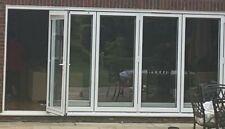 5M x (5) Stock Bifold Doors in White Aluminium incl Fittings