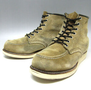 Red Wing Auth 8173 Irish Setter Moc Toe Suede Boots Beige US 7.5E from Japan