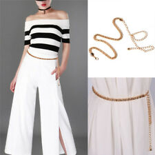Women's Gold Mesh Waist Chain Band Metal Chain Charm Belt Fashion SL