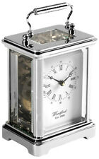 Woodford Chrome-Plated Solid Brass Mechanical Movement Obis Carriage Clock 1415