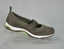 Ryka Brown Leather Fabric Mary Jane Comfort Walking Sport Flats Womens 6 Shoes