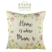 "Evans Lichfield ""Home Is Where Mum Is"" Estampado Cojín Relleno 43cm 43.2cm"