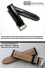 BOB MARINO Handmade ECHTLEDERUHRBAND Kompatibel mit Breitling 22 mm Fliegeruhr