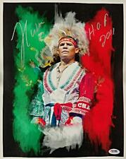 """JULIO CESAR CHAVEZ Signed """"HOF 2011"""" 11x14 Canvas MEXICO Art Print ~ PSA/DNA COA"""