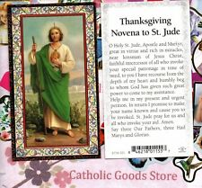 St. Jude - Thanksgiving Novena to Saint Jude - gold trim- Paperstock Holy Card