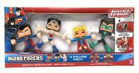 Micro Pozers - Super Hero MAGNETIC  JUSTICE LEAGUE - 4 FIGURE PACK - NEW