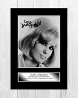 Dusty Springfield 3 A4 reproduction autograph photograph poster choice of frame