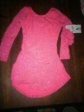 ChloeNoel Dls711 A-Line Sparkle Spandex Dress Magic Pink Skate Child Small
