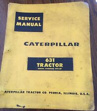 CAT CATERPILLAR 631 TRACTOR SERVICE MANUAL S/N 51F1-UP