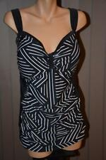 NEW Autograph FIRMING TUMMY PANEL Swimsuit TANKINI Top Size 16 B&W MONO $79.99